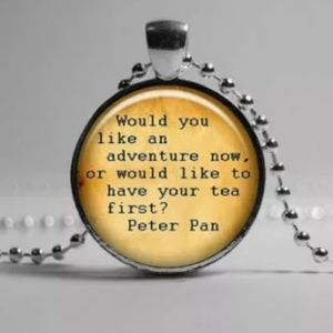 Peter Pan Quote Necklace. 🆕